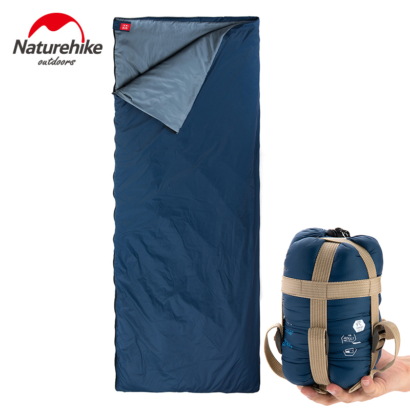 Naturehike Splicing Envelope Sleeping Bag Ultralight Multifuntion Portable Outdoor Camping Sleeping Bags Spring Autumn Travel