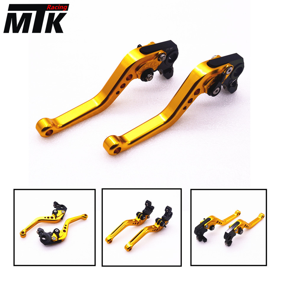 MTKRACING Motorbike Short CNC Brake Clutch Levers For Yamaha SUPERTENERE/XT1200ZE FJR 1300 XJR 1300/Racer billet alu folding adjustable brake clutch levers for motoguzzi griso 850 breva 1100 norge 1200 06 2013 07 08 1200 sport stelvio
