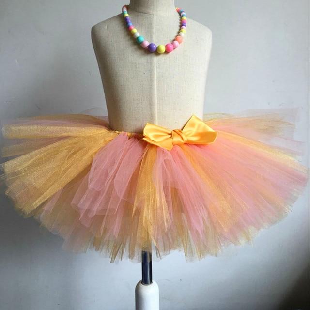 Kids Girls Tulle Tutu Skirt Fluffy Girls Skirts Birthday Party Dance Tutus Baby Toddler Enfant Ballet Pettiskirt Jupe Fille 1-8Y