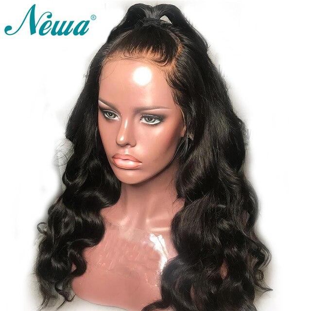 Base de seda 13x6 pelucas delanteras del cordón Pre Plucked cuerpo Wave superior de seda Peluca de cabello humano 150% Remy brasileño pelo para las mujeres negro Natural