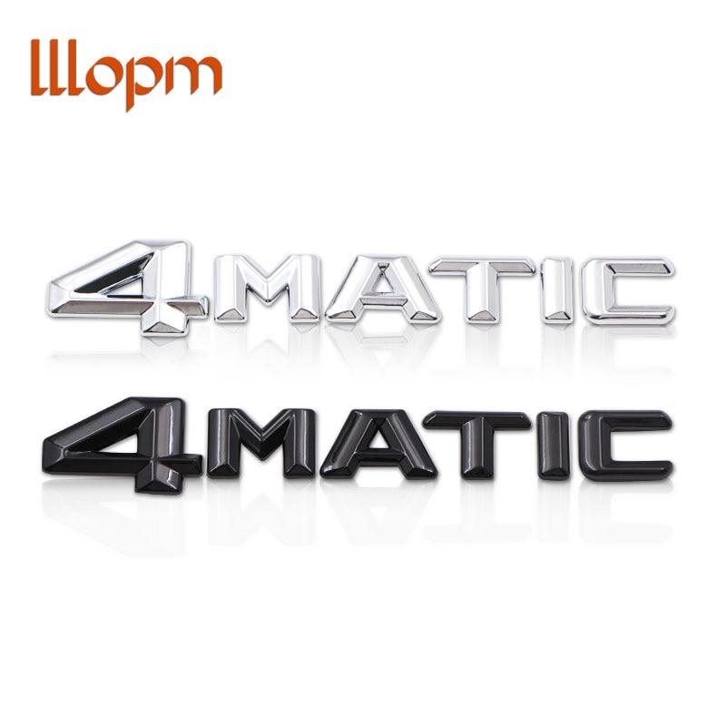 Chrome 4MATIC 4 MATIC Logo 3D Metal Sticker Emblem Sticker Car-styling For AMG Mercedes W212 W211 C E S Rear Trunk Car Sticker