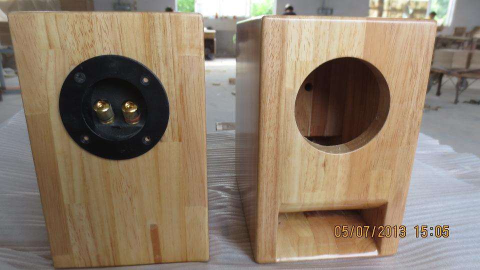 Solid Wood Panel 3 Inch Speakers Maze Of Empty Containers