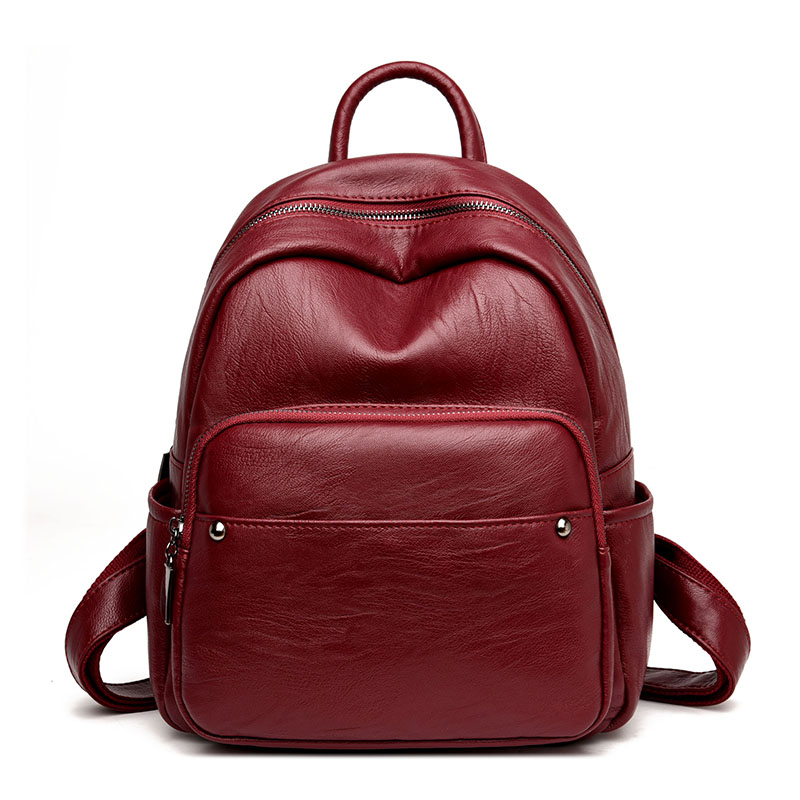 New Women Designer High Quality Leather College Student School Backpack School Bags For Teenagers Girl Bag Back Packs Mochilas bicolor back bag vintage casual genuine leather school bags top quality hotsale women famous designer brand backpack teenagers