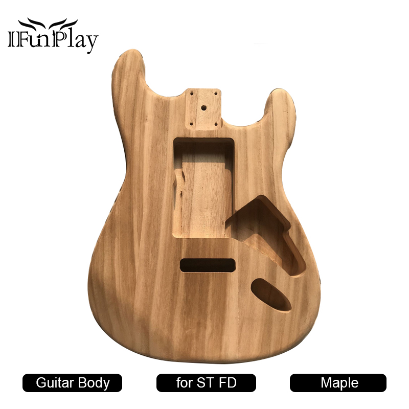 diy electric guitar body st fd electric guitar maple material barrel body for luthier violao. Black Bedroom Furniture Sets. Home Design Ideas