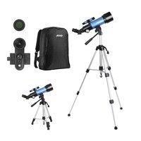 AOMEKIE Telescópio 40070 com Suporte Do Telefone Ajustável Alta Tripé Mochila 20-120X Poderoso Telescópio para Secenery Lua Assistir