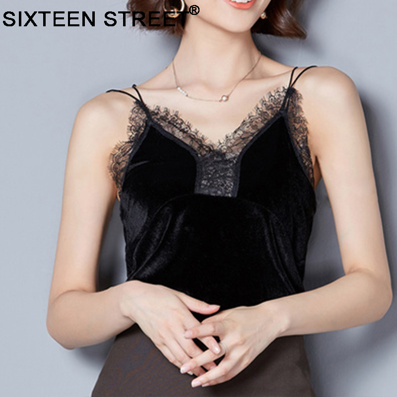 Women's Clothing Fashion Summer Sexy Women Lady V-neck Vest Backless Camis Loose Sleeveless Tank Lace Harajuku Top Streetwear Elegant In Style