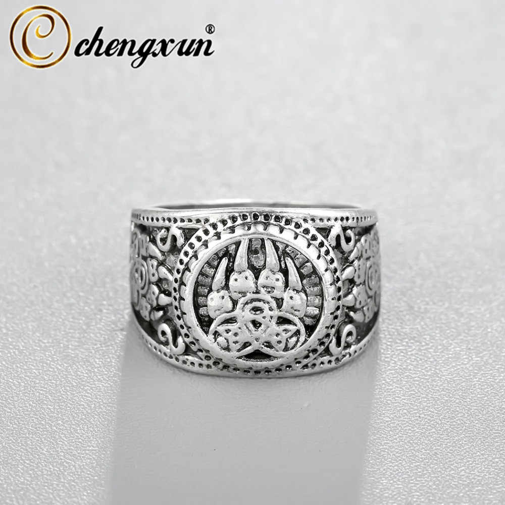 CHENGXUN нежный медведь лапа славянское кольцо ювелирные изделия в стиле викингов солдат военный русский перстень высокого качества Уникальный стиль панк