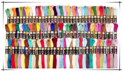 100pcslot New Brand Yard Embroidery Thread Cross Stitch Thread