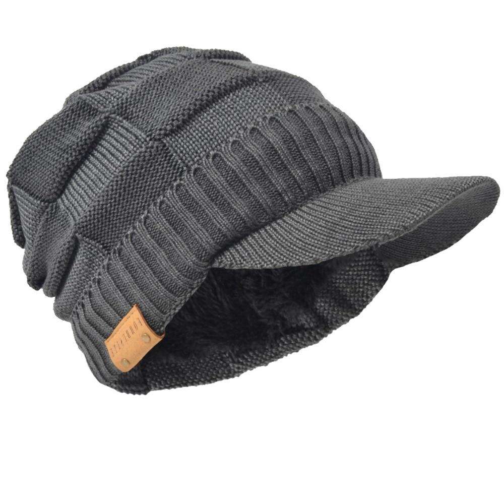 TOHUIYAN Mulheres Dos Homens Tecido de Malha de Lã Jornaleiro Duckbill Caps  Inverno Quente Boina Boina ff433da8021