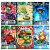 60 pcs lot Plants vs Zombies Cards Plants Zombies Action Figures Collect Card Pea Shooter Sunflower Trading Card Kid Toy discount