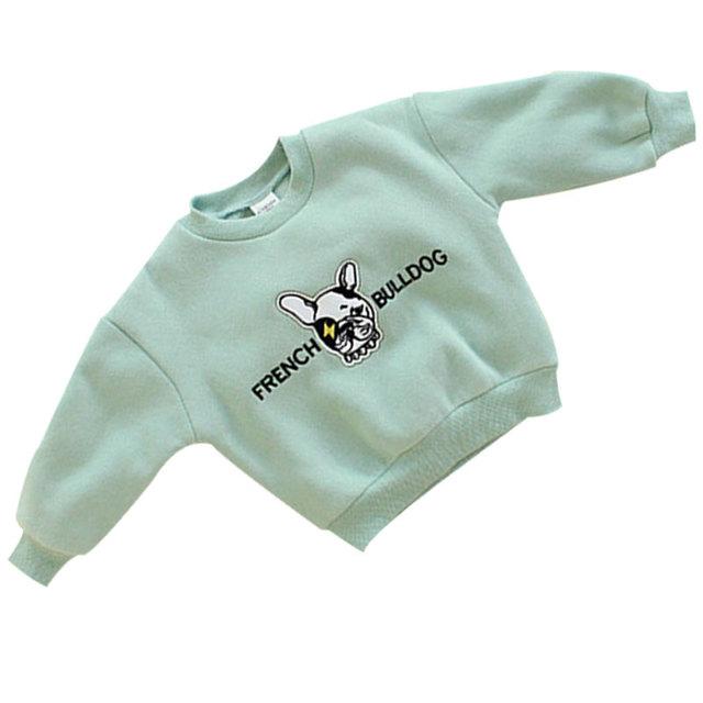 2016 Moda Niños de Alto grado de manga Larga Tejer Suéter de Cachemira Kawaii Niñas Suéteres de Dibujos Animados Infantiles Engrosamiento Perro escudo