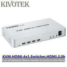 4 port HDMI USB KVM Switcher 4kX2K HDMI 2.0b Switch 4X1 Control up to 4 HDMI Devices via Single USB Keyboard&Mouse Free Shipping