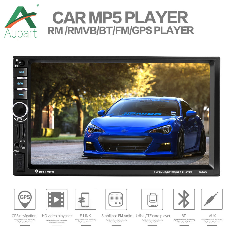 2 din car radio gps Autoradio 7'' Touch Screen GPS Navigation Car Multimedia upgraded 7018b Auto Stereo for 2 din car Radios-in Car Multimedia Player from Automobiles & Motorcycles