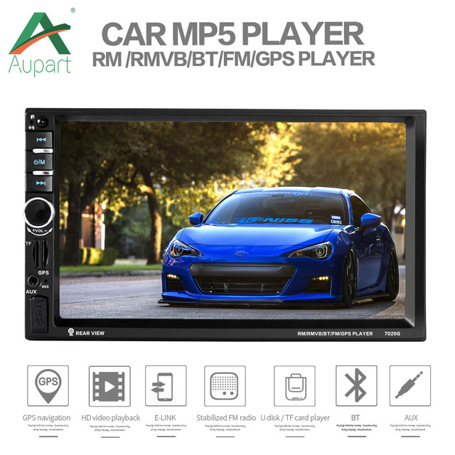 Autoradio 2 Din 7 inch Touch Screen GPS Navigation Car MP5 Multimedia Player Auto Audio Stereo Radio 7020G