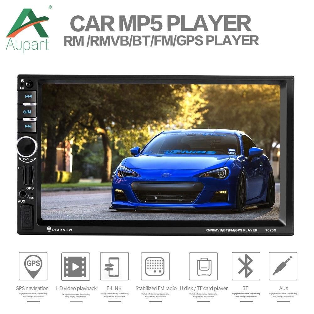 Autoradio gps 2 din 7 ''écran tactile GPS Navigation voiture multimédia amélioré 7018b Auto stéréo pour autoradios 2 din