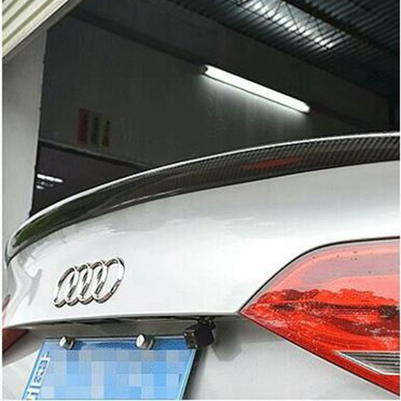 Car Accessories Carbon Fiber Rear Wing Trunk Lip Spoiler For Audi A5 S5 Sedan 4Doors 2009 2010 2011 2012 2013 2014 2015 2016