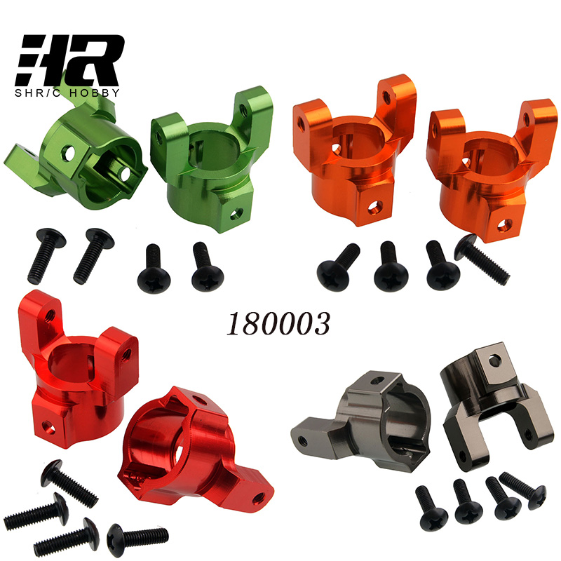 2pcs RC car 1/10 HSP 180003/18006 Aluminum Steering Arm Caster Mounts(l/r) For Rc 1:10 Hsp 94180 Rock Crawler Upgraded Hop-Up 2pcs rc car 1 10 hsp 06053 rear lower suspension arm 2p for 1 10 4wd rc car hsp 94155 94166 94177