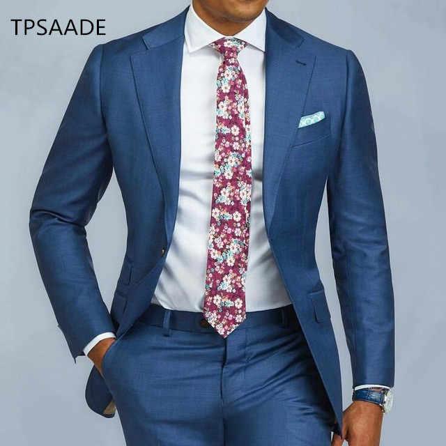 正式な男性スーツスリムフィットシングルブレストメンズスーツ別注新郎タキシードブレザー結婚式ウエディングジャケットパンツ 2 個 terno