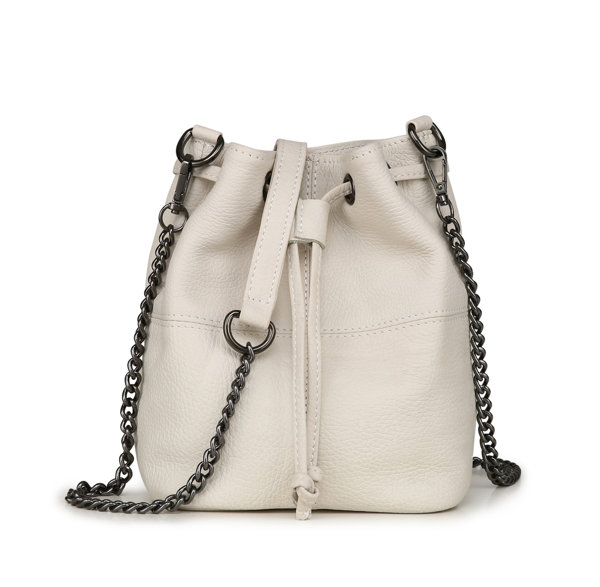 цена на 2018 New Arrival Female Bucket Bags Genuine Leather Handbags Famous Brand Design Women Messenger Bags Fashion Women Bags