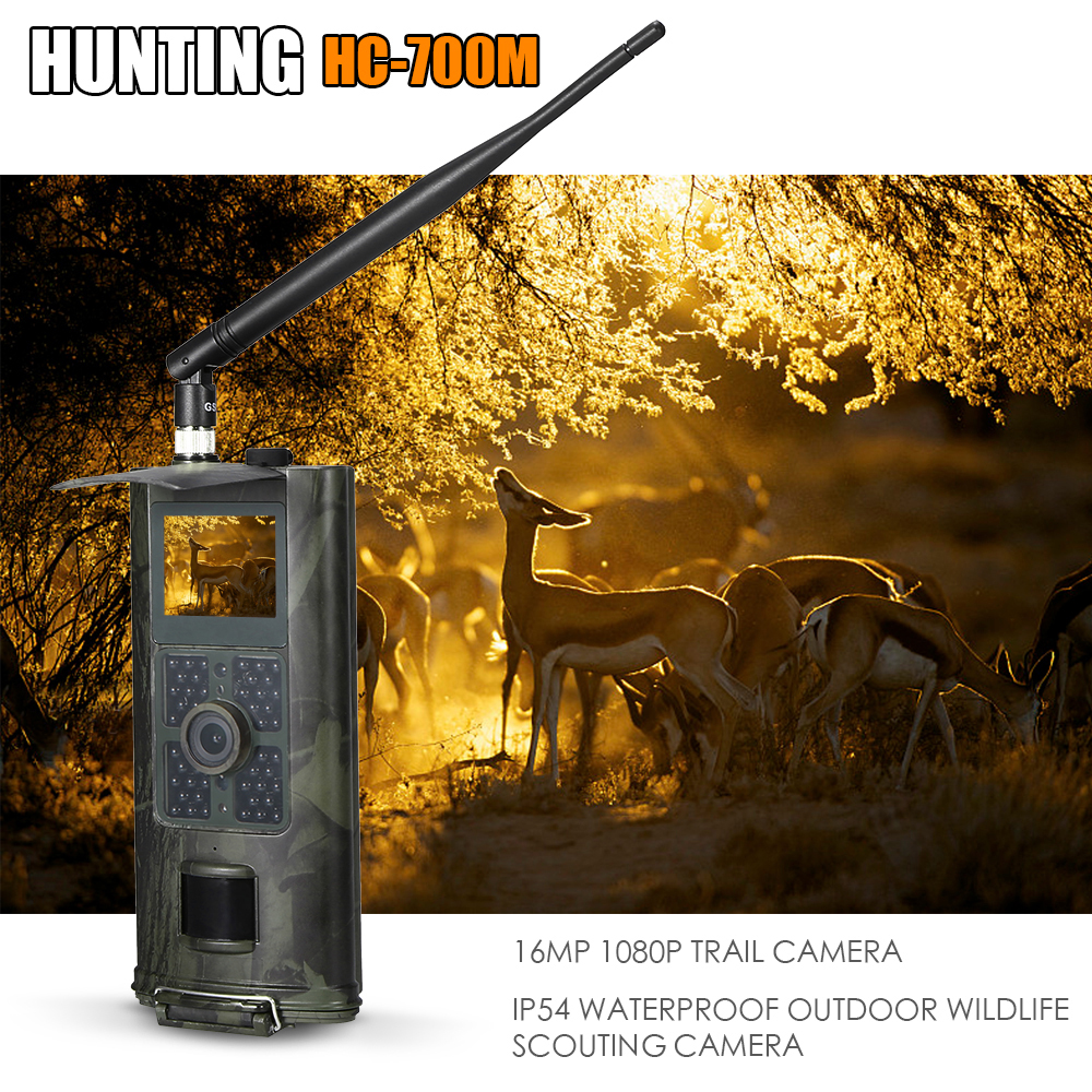 16MP 1080P 2 3G SMS GSM Trail Camera Hunting Game Camera Outdoor Wildlife Scouting Camera with
