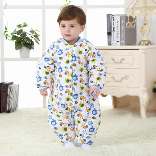 Baby 3 4 Years Old Sleeping Bag Autumn And Winter Cotton Padded
