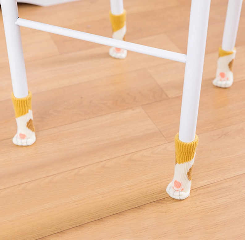 4 шт. кошка противоскользящая обувь коврик бампер демпфер Красивая фурнитура ножка ноги ковер шапки войлочные прокладки Кошачий коготь ножка стула носки настольный протектор D3