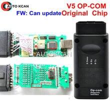 V5.0 pcb v5 pcb firmware v1.59 pode atualizar pwb v5 versão opcom op com chip original obd2 para opel op-com ferramenta diagótica automática