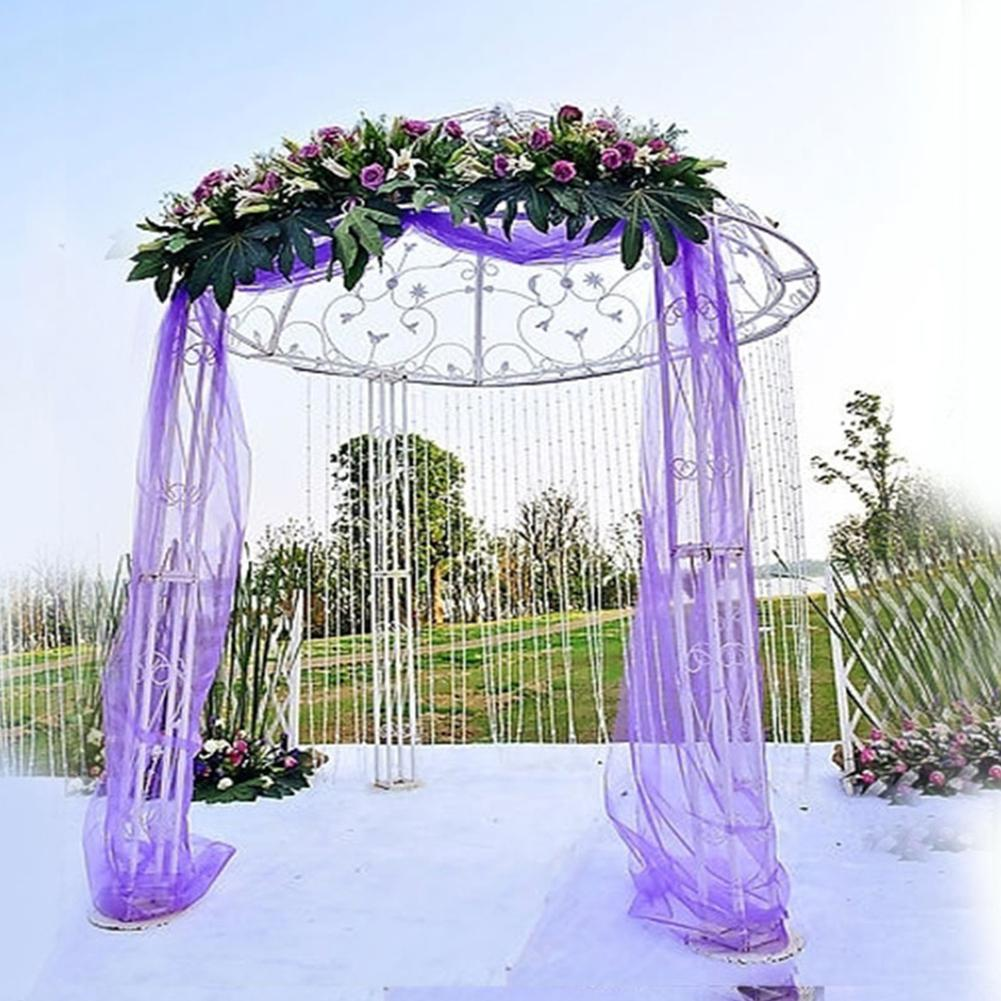 HobbyLane  5M Sheer Crystal Organza Tulle Roll Fabric Party Wedding Decoration Organza Stairs Arch Chair Sashes Decoration