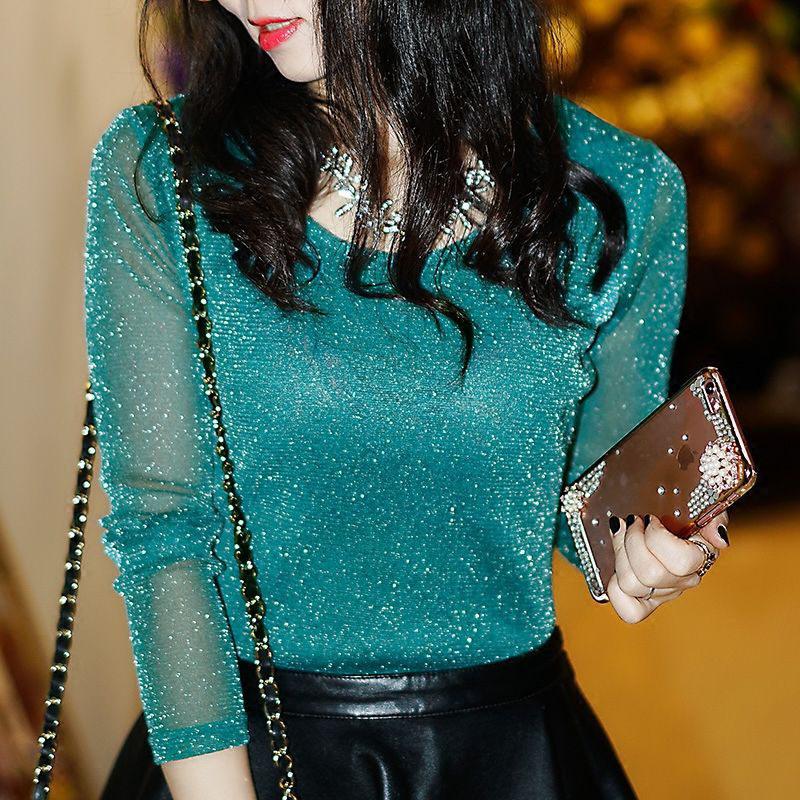 Blusa de malla elegante aliexpress