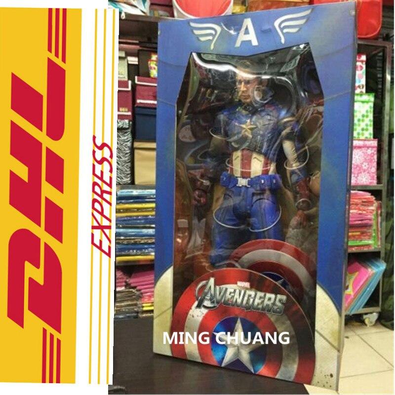 NECA Avengers: Infinity War Superhero 18 Inch Captain America Steven Rogers PVC Action Figure Collectible Model Toy W14 avengers infinity war superhero captain america shield 1 1 life size action figure collectible model toy d294