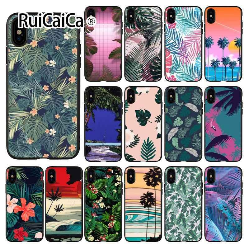 Ruicaica แคลิฟอร์เนียปาล์มต้นไม้รูปแบบสมาร์ทโทรศัพท์กรณีสำหรับ iphone ของ Apple iphone 8 7 6 6 S Plus X XS MAX 5 5 S SE XR ฝาครอบ