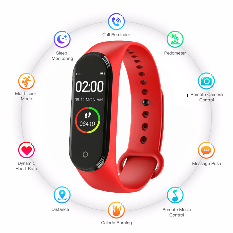 Hot Smart M4 With Activity Tracker Blood Pressure Monitor Watch Men