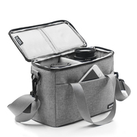 Travel Accessories Waterproof Anti collision Zipper Digital Mobile Phone Accessories Storage Bag Gray Simple Crossbody Handbag