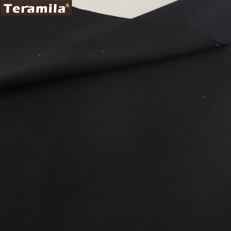 100% Cotton Fabric High Quality Classica Solid Black Color Design Twill Fat Quarter Home Textile Quilting Patchwork  craft