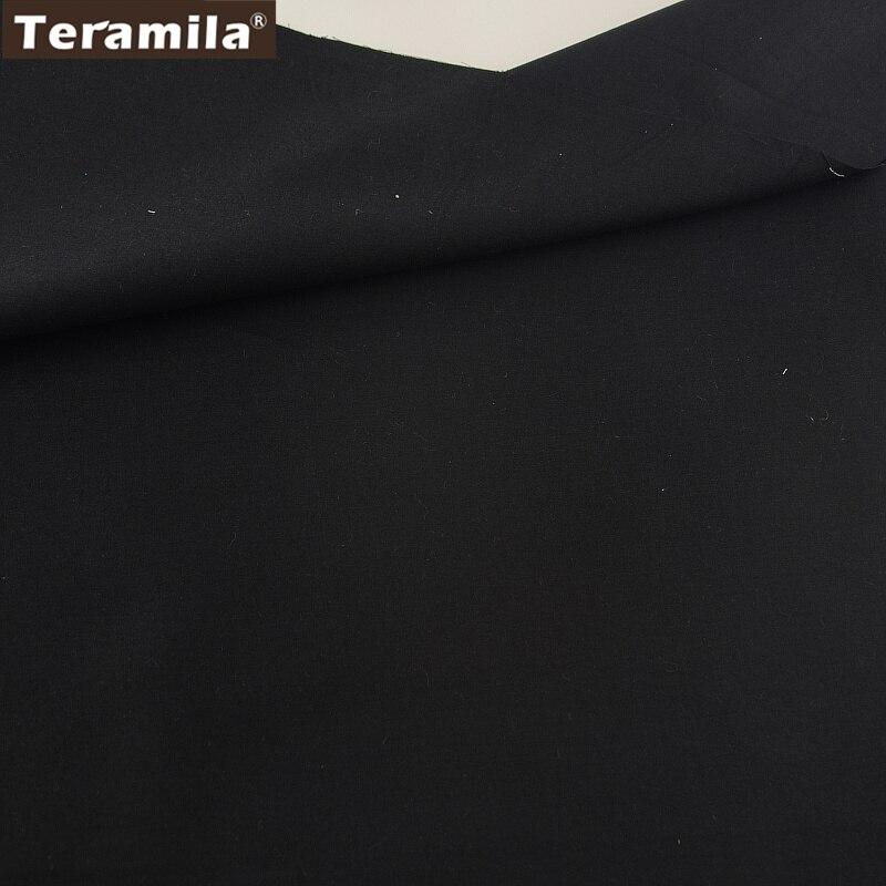 100% Tela de Algodón de Alta Calidad de Diseño Classica Color Sólido Negro Sarga
