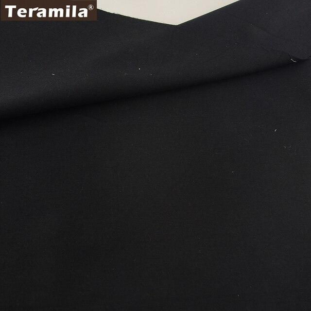 100% Tessuto di Cotone di Alta Qualità Classica di Colore Solido Nero di Disegno