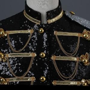 Image 5 - גברים חליפת מעיל משפט שמלת PerforMence גברים של טוקסידו להראות פאייטים כסף לבן שחור אדום Mens בלייזר מעיל יחיד חזה