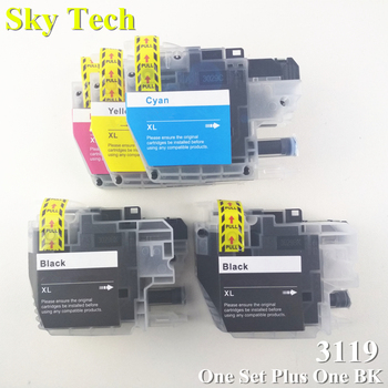 One Set Plus One BK [Japan] Compatible Ink cartridge For LC3117 LC3119 XL , For Brother MFC-J6580CDW MFC-J6980CDW etc ..