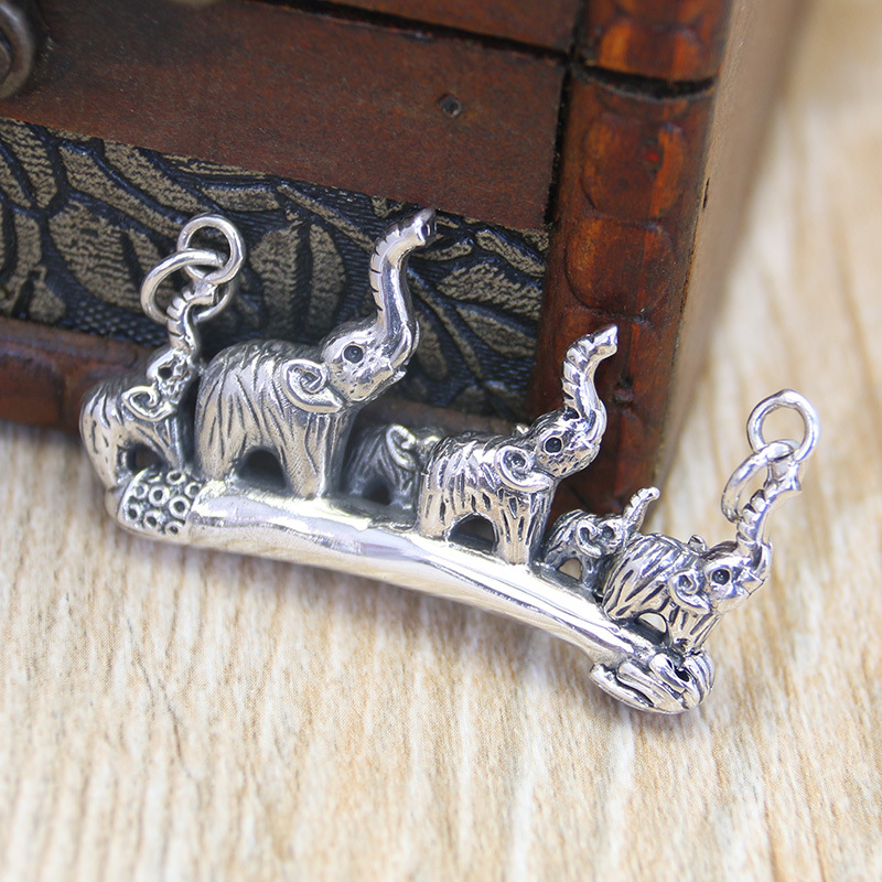 925 sterling silver jewelry silver silver Ruyi Lucky Elephant Pendant pendant wholesale silver peace
