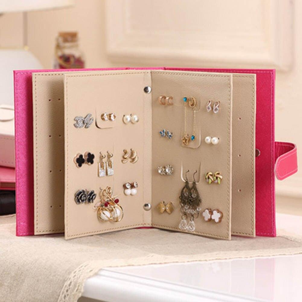 Портативный красочные Jewery Организатор Box Кольца хранения Симпатичные коробки небольшой подарок коробка для кольца серьги 4 Цвета 18,5*14*4,5 см ... ...
