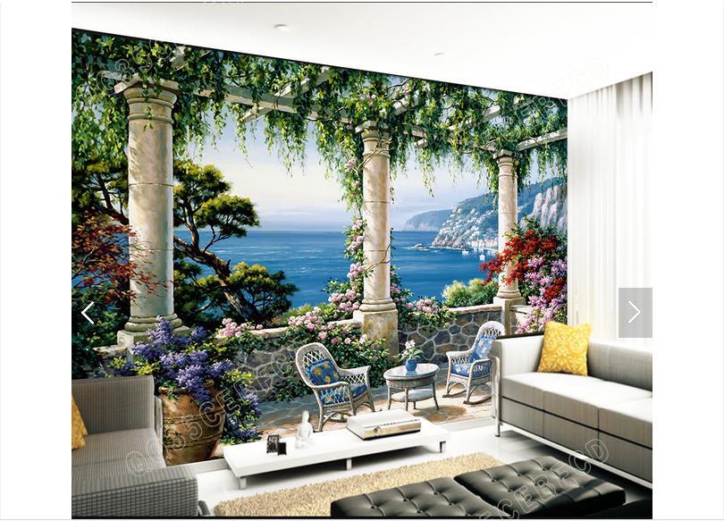 online shop kundenspezifische 3d fototapete 3d wandbilder wallpaper garten villa landschaft 3d mural tapete 3d wohnzimmer dekoration aliexpress mobil