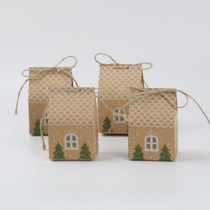 5pcs Christmas Packaging Kraft Candy Dragee Paper Bag Gifts for The New Year Noel Xmas Tree Chocolate Cookies Wrapping Paper(China)