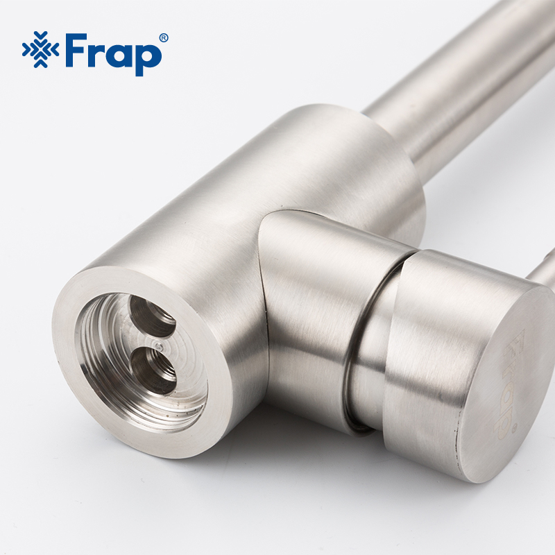 Image 2 - Frap Stainless Steel Kitchen Faucet Brushed Process Swivel Basin Faucet 360 Degree Rotation Hot & Cold Water Mixers Tap Y40107/8Kitchen Faucets   -