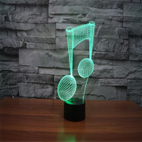 3D Visual LED Table Night Color Change Night Lamp Music Lampara Deco Bedside Lights 3d Led