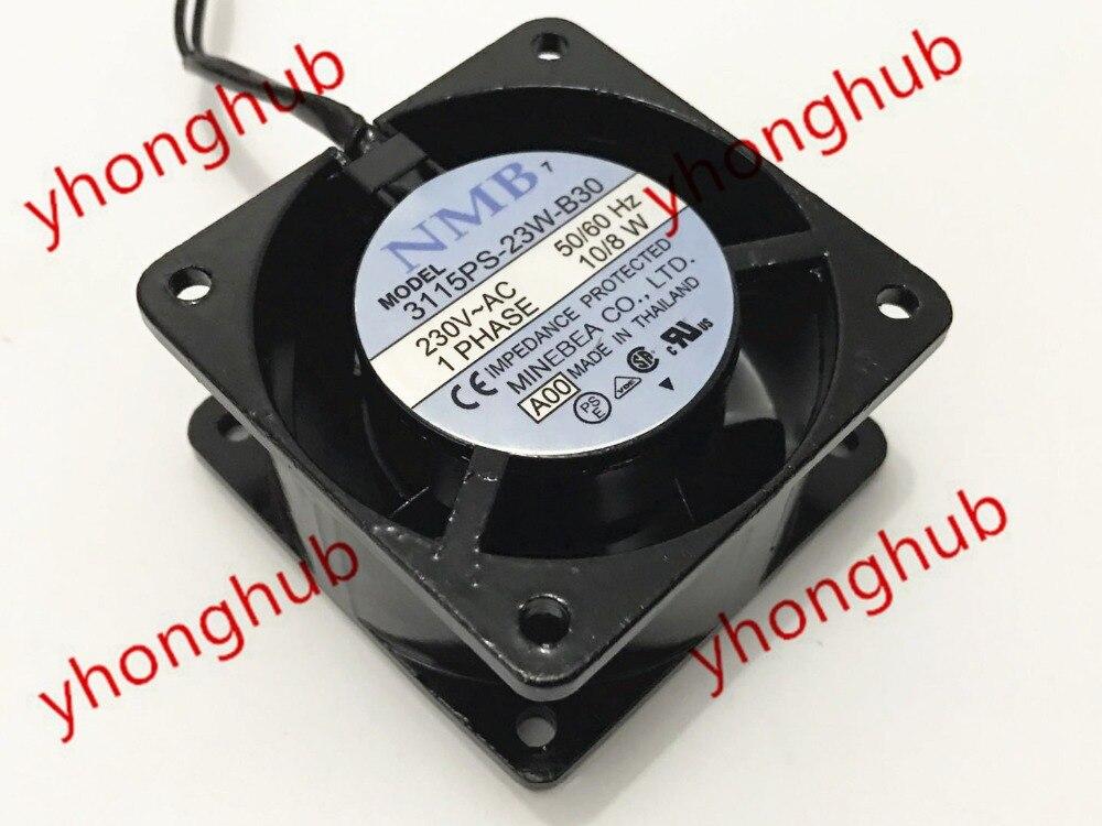 NMB-MAT 3115PS-23W-B30 A00 AC 230 V 10/8 W 80X80X38mm serveur refroidisseur ventilateur