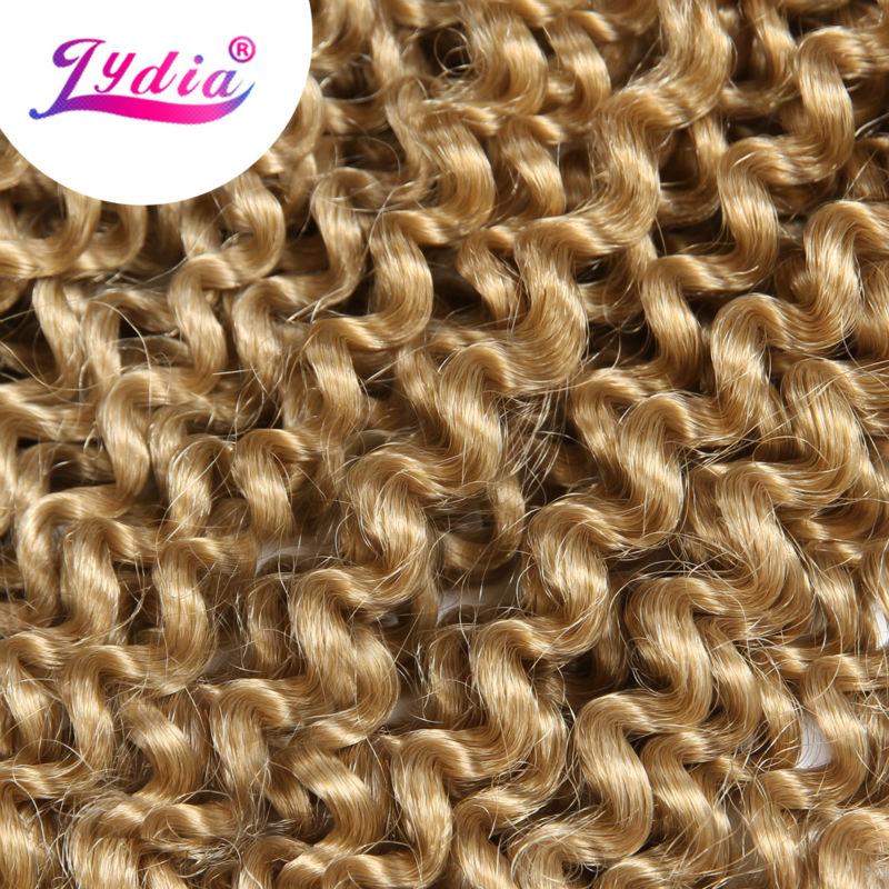 "Image 3 - Lydia Bohemian Freetress Hair Extension Crochet Braid Hair 14"" 3PCS Pure Color Kanekalon Bulk Synthetic Braiding Hair Afro Kinkykinky afrokinky afro hairkinky kanekalon -"