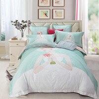 Beautiful Wedding Dress Digital Printing 60 Long Staple Cotton Bedding Set Duvet Cover Bed Linen Bed sheet Pillowcase King Queen