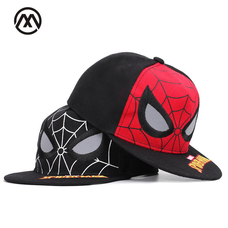 Responsible Childrens Spider-man Embroidered Hip Hop Caps Boys Girls Universal Street Dresses Adjustable High Quality Reflective Shade Hats Sale Overall Discount 50-70% Apparel Accessories Boy's Hats