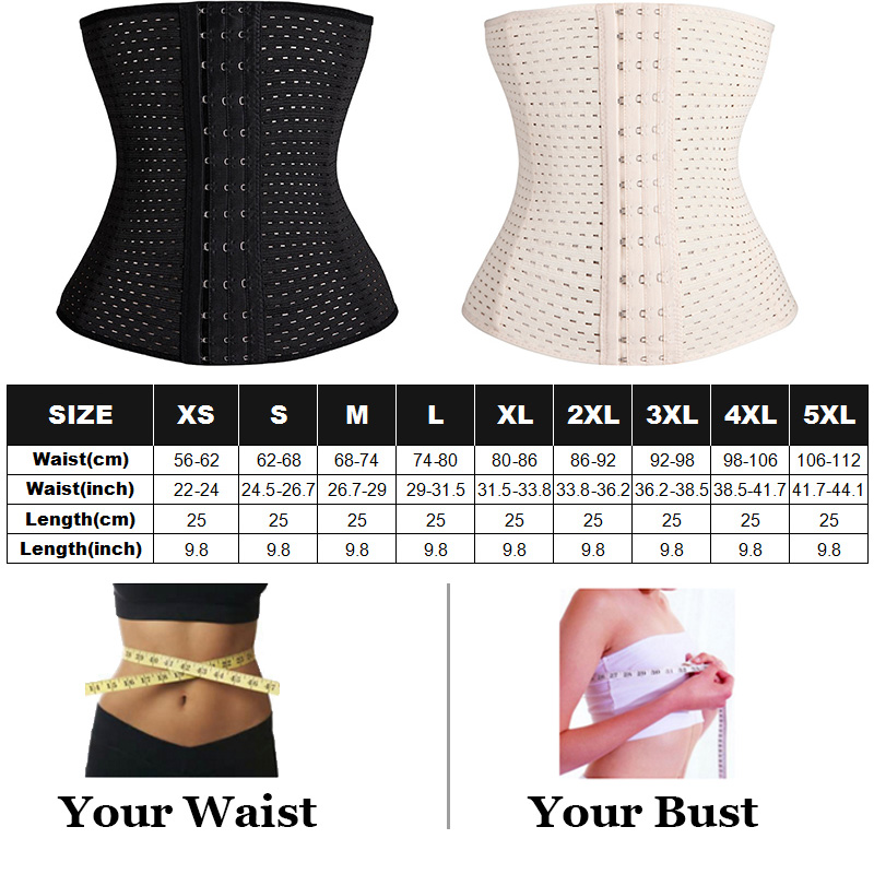 Body Shaper Waist Trainer Corset Belt Plus Size Women Postpartum Belly Slimming Belt