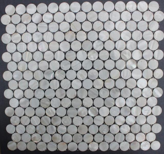 20mm 25mm Round Circle Mother Of Pearl S Tiles For Wall Or Furniture Mosaic Backsplash